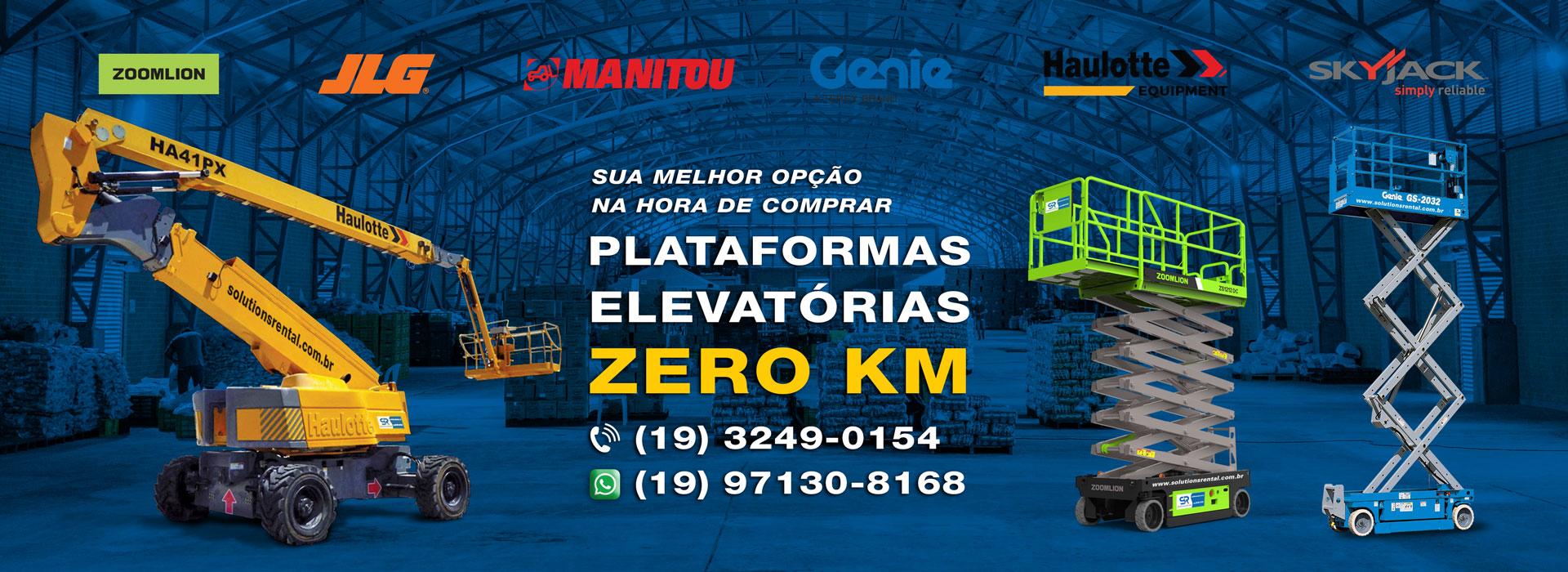 Solutions Rental Venda de Plataformas Zero Km